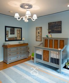 Modern Circus Baby Nursery - we adore this classic design from @shalenasmith!