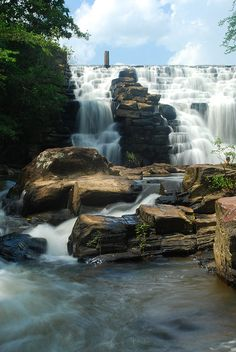 The breathtaking Chewacla Falls in Alabama.