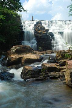 The breathtaking Chewacla Falls in Alabama.