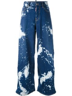 c671525fd245 DSQUARED2 Splash Effect Jeans.  dsquared2  cloth  jeans Wide Leg Jeans, High