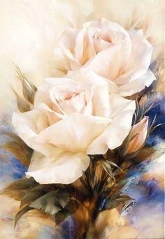 Painting & Drawing, Watercolor Paintings, Original Paintings, Rose Art, Arte Floral, Watercolor Rose, Botanical Illustration, Flower Art, Pink Roses