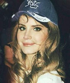her eyes are so beautiful // lana del rey candid born to die era baseball cap and white dress