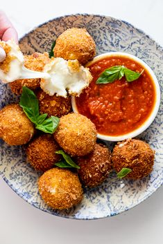 Crispy fried mozzarella is a delectable vegetarian appetizer or snack served with roasted tomato sauce. Any cheese lover's dream! Vegetarian Appetizers, Appetizer Recipes, Vegetarian Recipes, Hot Appetizers, Sandwich Recipes, Cheese Recipes, Fried Tomatoes, Roasted Tomatoes, Roasted Tomato Sauce