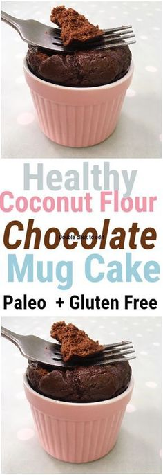 This healthy flourless chocolate mug cake is super fluffy and loaded with chocolate goodness to satisfy any chocolate and dessert craving!The ingredients are super nourishing and clean coconut flour raw cacao powder maple syrup vanilla extract coc Gluten Free Mug Cake, Paleo Mug Cake, Vegan Mug Cakes, Mug Cake Healthy, Best Chocolate Mug Cake Recipe, Keto Chocolate Mug Cake, Chocolate Mug Cakes, Flourless Chocolate, Flourless Mug Cake