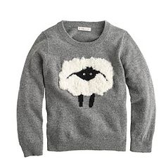 0ba2e2a913 Girls  fuzzy sheep sweater Cotton Cardigan