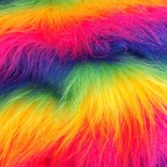 Rainbow Mongolian Faux Fur Synthetic Fabric by the Meter is great for making wacky creations of your own wear your wild side! Rainbow Images, Free Iphone Wallpaper, Phone Wallpapers, Glo Up, Rainbow Aesthetic, Rainbow Wallpaper, Over The Rainbow, Rainbows, Colors
