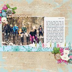 Digital Scrapbooking BEARY COLD | FOREVERJOY DESIGNS #joycreated  ForeverJoy Designs Beary Cold  Fiddle Dee Dee Designs MOC 2017 Template Freebie
