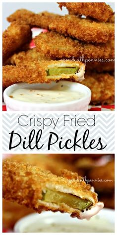 Crispy Fried Dill Pickles... this is my newest addiction! If you haven't had them, add this to your MUST try board!