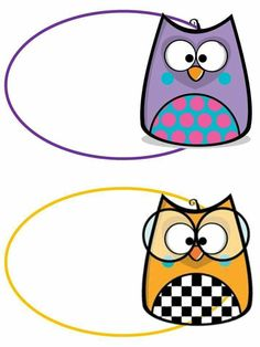 Preschool Classroom Themes, Owl Theme Classroom, School Welcome Bulletin Boards, Page Borders Design, Owl Clip Art, Bookmark Craft, School Labels, Coloring Sheets For Kids, Cute Frames