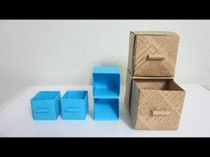 TUTORIAL - How to make Practical Boxes (Shelf with drawers) - YouTube
