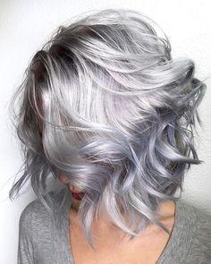 Silver grey hair dye unique beehive hair spray plus instagra Mens Gray Hair Dye, Silver Grey Hair Dye, Grey Hair Wig, Lilac Hair, Silver Hair Styles, Grey Hair Young, Lavender Grey Hair, Blonde Hair, Sombre Hair