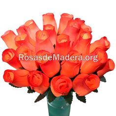 Rosa naranja oscuro Arte Floral, Rose, Flowers, Plants, Orange Roses, Wooden Flowers, Cheap Gifts, Bouquet Wedding, Floral Bouquets