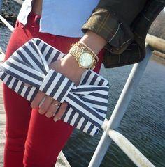 Striped Purse ; Nautical