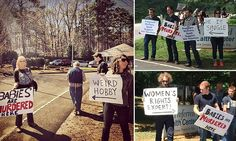 'Weird hobby!' Couple gain hordes of fans after picketing pro-life abortion clinic protests with witty inappropriate signs  Read more: http://www.dailymail.co.uk/news/article-2715649/Weird-hobby-Couple-gain-hordes-fans-picketing-pro-life-abortion-clinic-protests-witty-inappropriate-signs.html#ixzz3GYKYAEHt  Follow us: @MailOnline on Twitter | DailyMail on Facebook