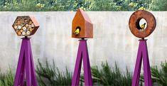 Bee Bungalow, Bird Bungalow and Bird Cafe Habitats atop Akoris Garden Tuteurs