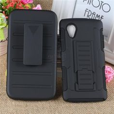 New edition Tough Hybrid Armor for Google LG Nexus 5 Phone case Cover 3 in 1 3D Kickstand Belt Clip Military Style Bags