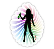 Bong Rip Girl Rainbow-1 (solid) Sticker