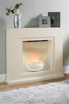 Plug in fireplace will give room a focus and a great area to dress for occasions with candles etc