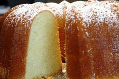 Granny's Pound Cake - made with cream cheese. Delicious toasted or served with fresh fruit, ice cream or in a trifle. This cake also freezes beautifully.