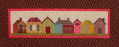 Row Houses Wall Quilt at allpeoplequilt.com | Free pattern download. Many free patterns available at this site.