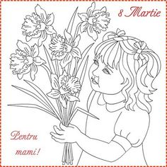 Nicole's Free Coloring Pages: 8 Martie * Coloring Spring Greeting Cards