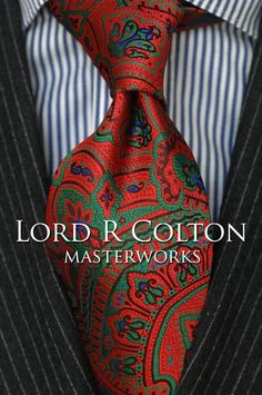 Lord R Colton Masterworks Tie - Museu Paulista Red Tapestry Necktie - $195 New #LordRColton #NeckTie
