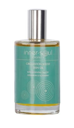 Circulation Boost Skin Oil  Geranium and Rosemary essential oils will impact a sluggish circulation - a main cause of cellulite - whilst restoring and tightening the skin.