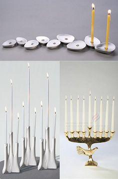 Click through for some other (very cool) modern menorahs Jewish Hanukkah, Hanukkah Crafts, Hanukkah Decorations, Hanukkah Menorah, Christmas Hanukkah, Happy Hanukkah, Hannukah, Jewish Celebrations, How To Celebrate Hanukkah