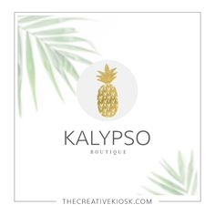 Gold Pineapple Logo Design