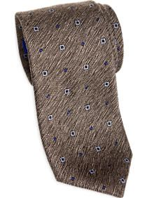 Egara Brown Textured Narrow Tie