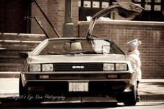 The Delorean. And a girl.... with a dream. Classic Car Photography