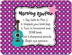 Got this FREE via Vistaprint today! It's actually a car magnet, but I will hang it on my dry-erase board as a reminder to the students what they need to do each morning! :o)