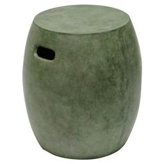Check out this item at One Kings Lane! Concrete Stool, Verdigris