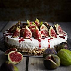 Figs Semifrosted Cake