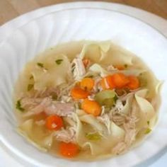 Herbs And Spices, Awesome Chicken Noodle Soup, Homemade Chicken Stock Flavored With Lemon Grass Is Combined With Carrots, Celery, Egg Noodles And Chicken In This Heartwarming Soup. Soup Recipes, Chicken Recipes, Cooking Recipes, Healthy Recipes, Recipe Chicken, Chili Recipes, Quick Recipes, Healthy Chicken, Healthy Foods