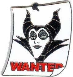 Pin 34103: WDW Cast Lanyard Series #3 - Wanted Posters (Maleficent)