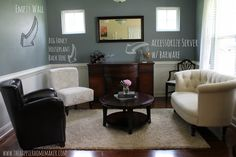 Turn an unused dining room to a grown up sitting room
