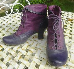 Purple witch's shoes