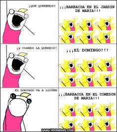 Memes chistosos: Lo importante es la barbacoa → #memesdivertidos #memesenespañol…