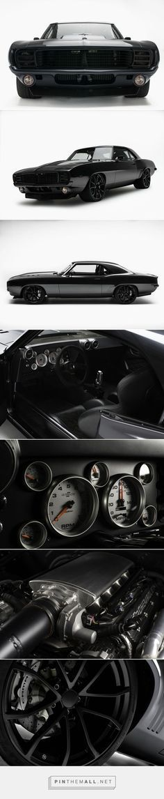 Blacked-Out 1969 Chevrolet Camaro #classiccarschevroletcamaro