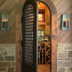 Wrought Iron Door wine room