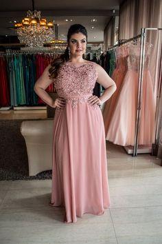 Vestido Longo Rose - Saia Justa Moda Festa - Vestidos e Acessórios - Curitiba