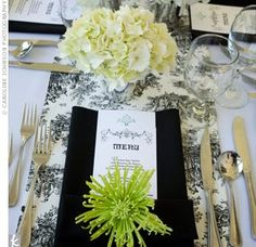 Elegant place setting based more on neutrals than color