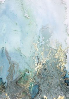 Spring green/white/grey mood board / Onto the Sea abstract painting by Beth…