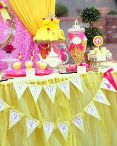 Princess Belle Party Decorations Beauty And The Beast Party  Cupcake Toppers  Beauty And The