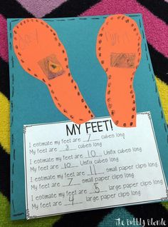 """Measuring with """"The Foot Book!"""" - The Bubbly Blonde Teacher"""