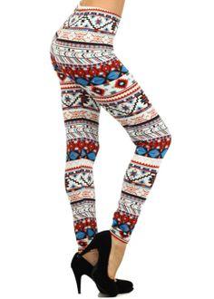 Trendy Leggings-Cute Printed Leggings-Tribal print leggings