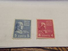 COLLECTIBLE PAIR-1938 PRESIDENTIAL #808 -4 CT