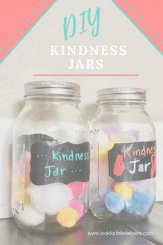 Do it Yourself Kindness Jars to teach your children to be kind!