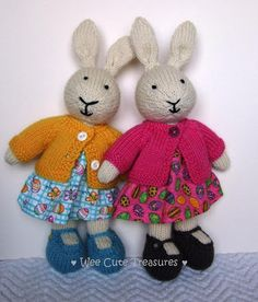 Wee Cute Treasures: Spring, Knitted Bunnies and New Year Resolutions.....